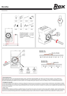 legrand microrex qt31 user manual
